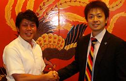 熊倉智光と有限会社ゼロシステム 代表取締役 千田達也さん